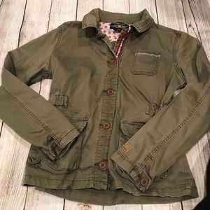 {Lucky Brand} Green Printed Jacket